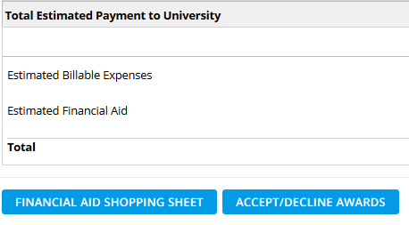 Estimated Payment to the University in LionPATH