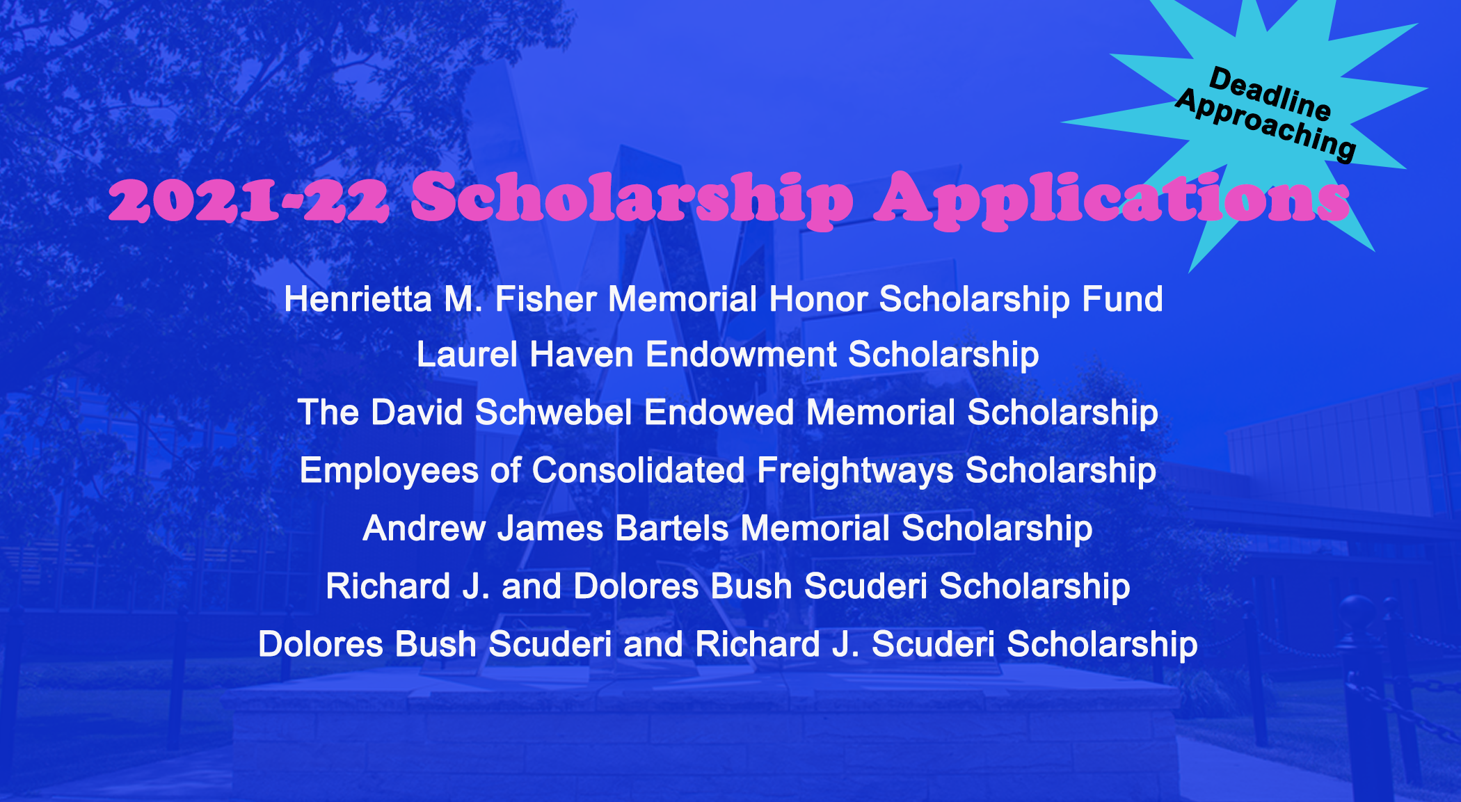 List of OSA scholarship applications available
