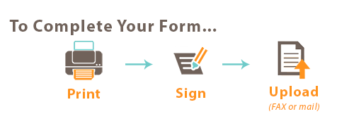 Print sign and upload your form