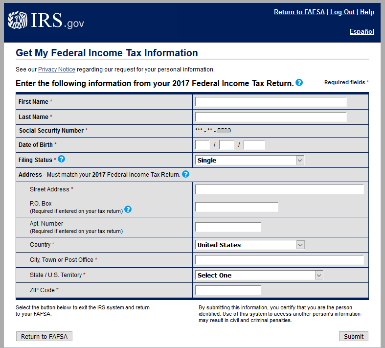 Get My Federal Income Tax Information